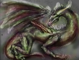 Green Algae Dragon by LiquidDragonN
