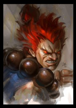 Akuma potrait by largee17