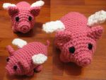Crochet Winged Pig by neonjello17