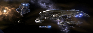 The fleet - Halo 3 Panorama by 2900d4u