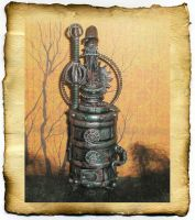 Dollhouse Steampunk Furnace by grimdeva