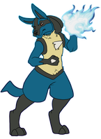 Lucario commission Apulx by Eelea