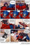 TF Ongoing issue -18 fan cartoon by GoddessMechanic