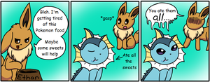 The Eevee Army #6: Sweets by HappyNinjaPichu