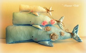 The family of whales. by InteriorDolls