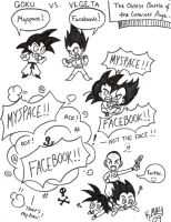 Myspace vs. Facebook DBZ by kwessels