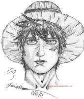 Semi-realism Luffy by Internus