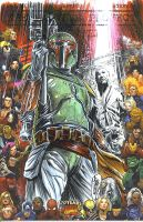 Boba Fett Sketch! by MikeLilly