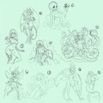 Fantasy Sketchs 00x2 by ManiacPaint