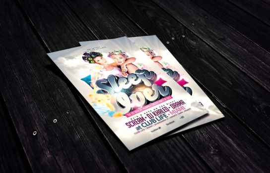Sleep Over Party Flyer Template by Dannygdesigns