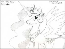 Princess Celestia by Sricketts14381