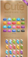 CUTE SOCIAL ICONS by FreeIconsFinder