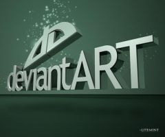 DeviantART Logo using C4D and by litemint
