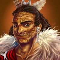 Hunapo the Maori Warrior by ExiledChaos