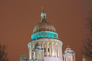RI State House - Closeup by BellaCielo