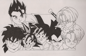 Dragonball Z Heroes by lokingard