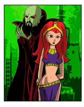 Ming the Merciless and Princess Aura by herbertzohl