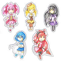 Madoka Chibis by SunnyVaiprion
