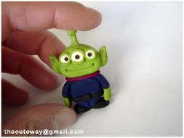 .:ToyStory Alien:. sculpey by SaMtRoNiKa