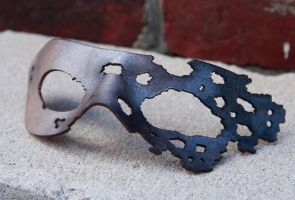 Corroded Mask: Tarnished Silver by DracoLoricatus