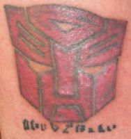 Autobot Tattoo-Sans blacklight by ShinigamisPet