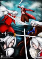 War of Silver Hair Swordman by icy777s