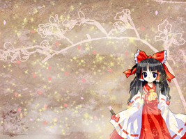 Reimu Hakurei wallpaper by Ryosuke08