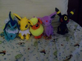 Eeveelutions Plush Toys Gens I and II by KelseyEdward