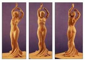 Clay maquette for Spirit by danielsyzygy