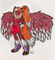 Morphosary: Mahogany the Pegasus by IkaritheHedgehog