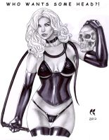 Lady Death Want Some Head? by daikkenaurora