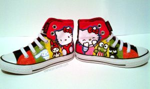 Hello Kitty Sanrio Shoes by LnknPrk7Snoopy