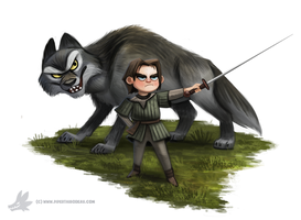 Daily Paint #1005. Valar Morghulis by Cryptid-Creations