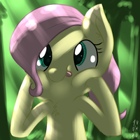 Fluttershy Makes A Funny Face by imsokyo