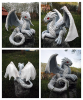White Dragon Hatchling_ (crafted version) by dashase