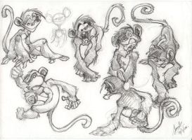 Monkeys by Sandora