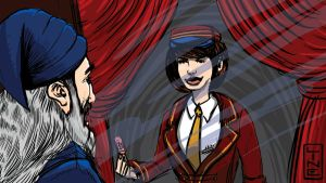 07 16 2012 Wizard And Ticket Girl by LineDetail