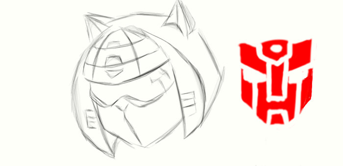 Autobot Glyph Head by TheRealSurge