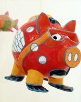 Dave the dive pig by art4oceans