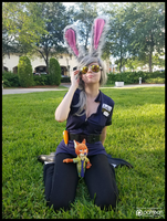 Officer Judy Hopps Chillin' (Zootopia Cosplay) by KrazyKari