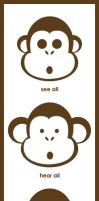 3 naughty monkeys by kmen