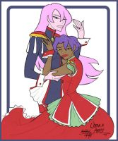 Anthy and Utena by sapphicspencil