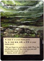 Magic Card Alteration: Fetid Heath by Ondal-the-Fool