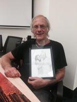 Christopher Lloyd with a gift from me. by Smeha