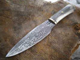 damascus daggerlike knife by hellize