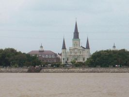 St Louis Cathedral and Cabildo by bugsythepigeon