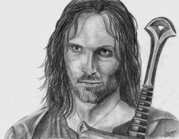 Aragorn portrait by Celvaya