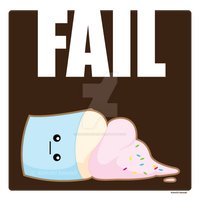 FAIL cupcake by kimchikawaii