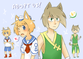 Neko Boys 6+8 Adoptables {CLOSED} by Whoodles