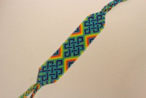 rainbow celtic friendship bracelet by fbraceletfreak